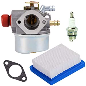 TOPEMAI OHH60 Carburetor for Tecumseh 640025 640025C 640004 640017 640135A Replace OHH65 OHH55 OHH50 Engine with 36046 Air Filter