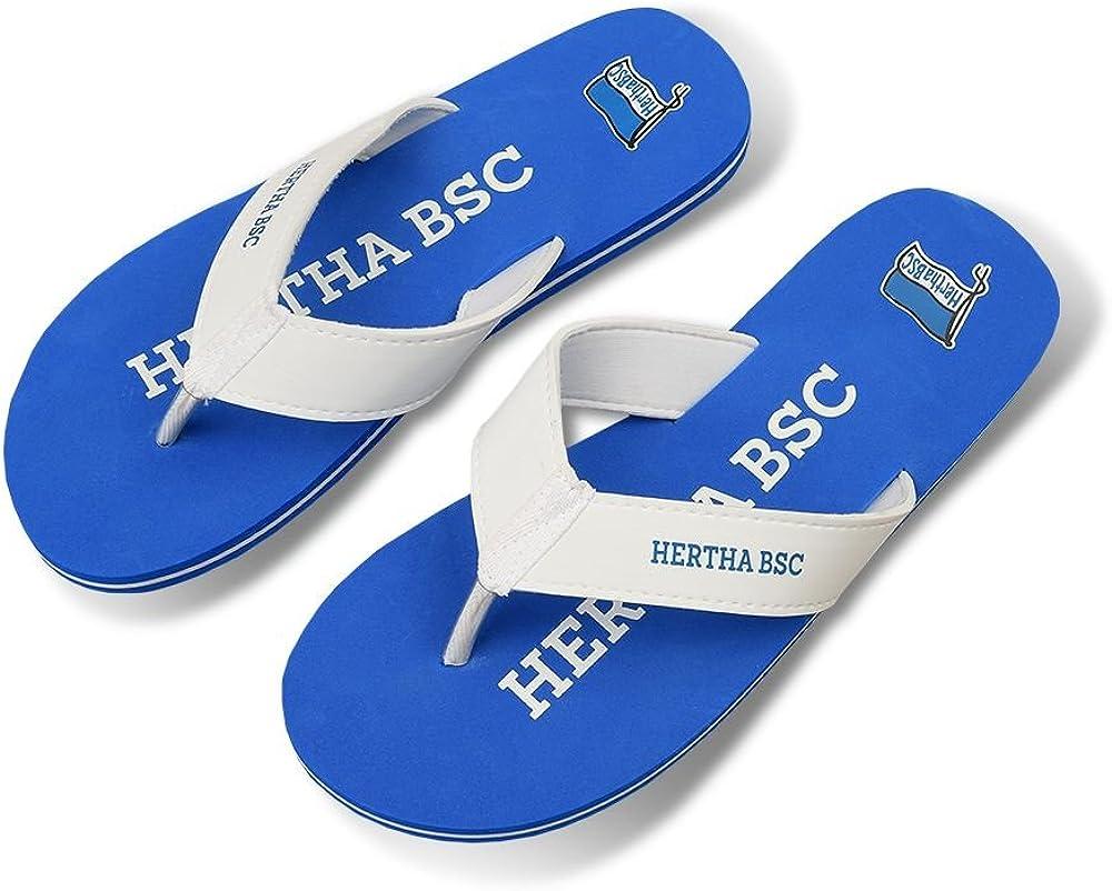 HERTHA BSC Berlin Pantoffeln Hausschuhe blau Hertha BSC Gr 43
