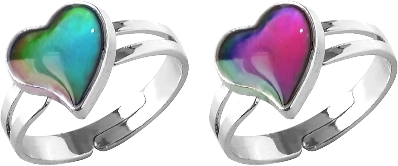 Girls Boys Adult Emotion Feeling Mood Color Changing Magic Ring Band Adjustable