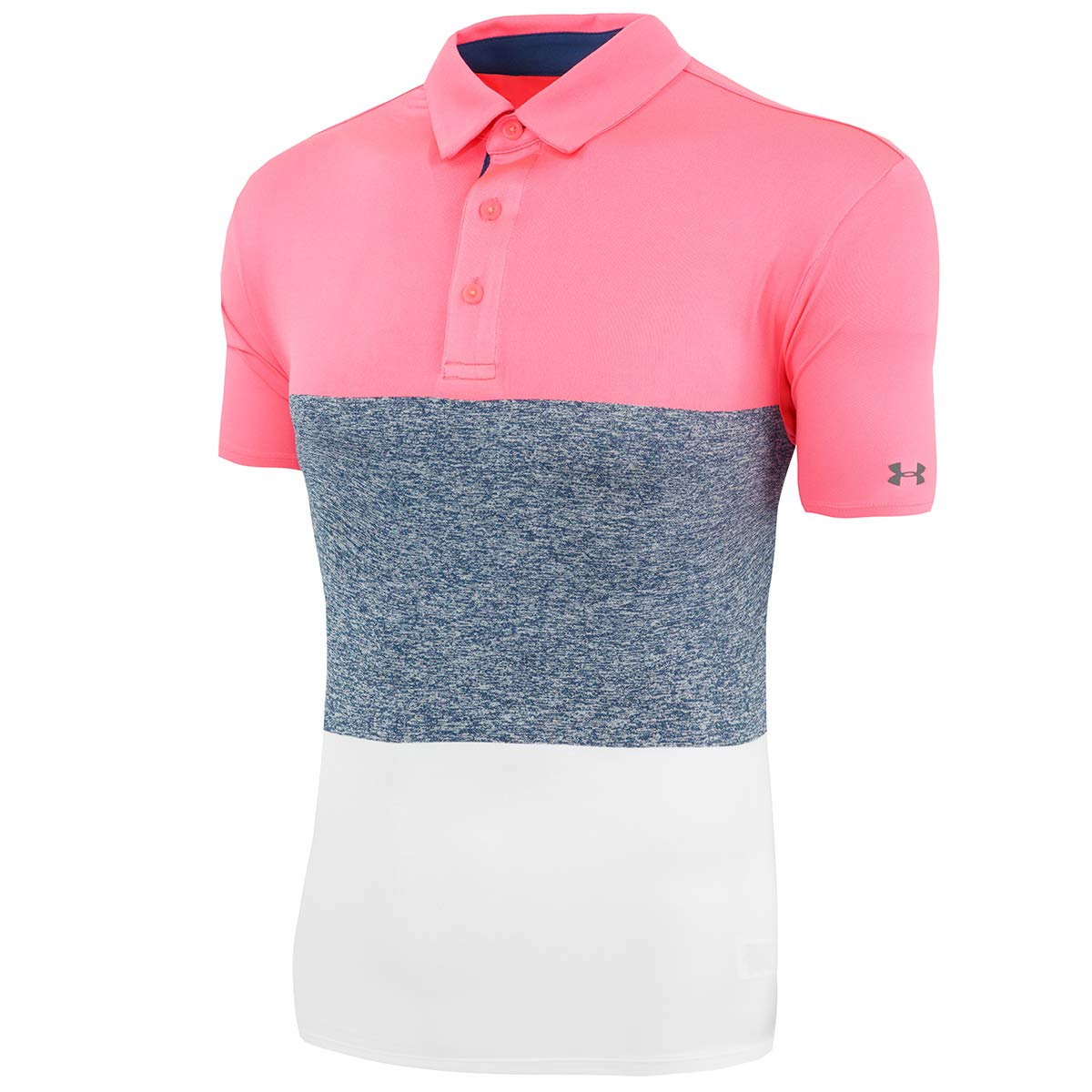 Under Armour Playoff Heritage Blocked Polo para Hombre, Large ...