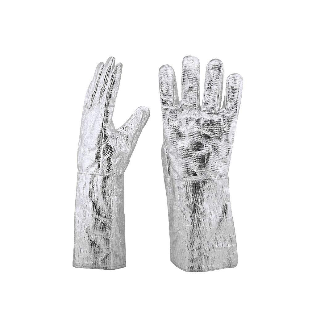 YYTLST High Temperature Resistant Gloves, Anti-Heat Radiation Anti-scalding, Suitable for Steel Manufacturing Metal Smelting Industry, 1 Pair/5 Pairs (Color : 5 Pairs) by YYTLST