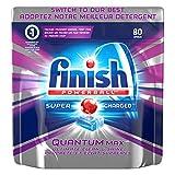 Finish Dishwasher Detergent, Quantum Max, Fresh, Mega Value Pack, 80 Tablets, Shine and Glass Protect