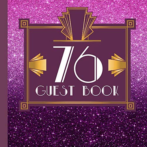 76 Guest Book: Purple Guest Book Includes Gift Tracker and Picture Pages to Create a Lasting Keepsake to Treasure -