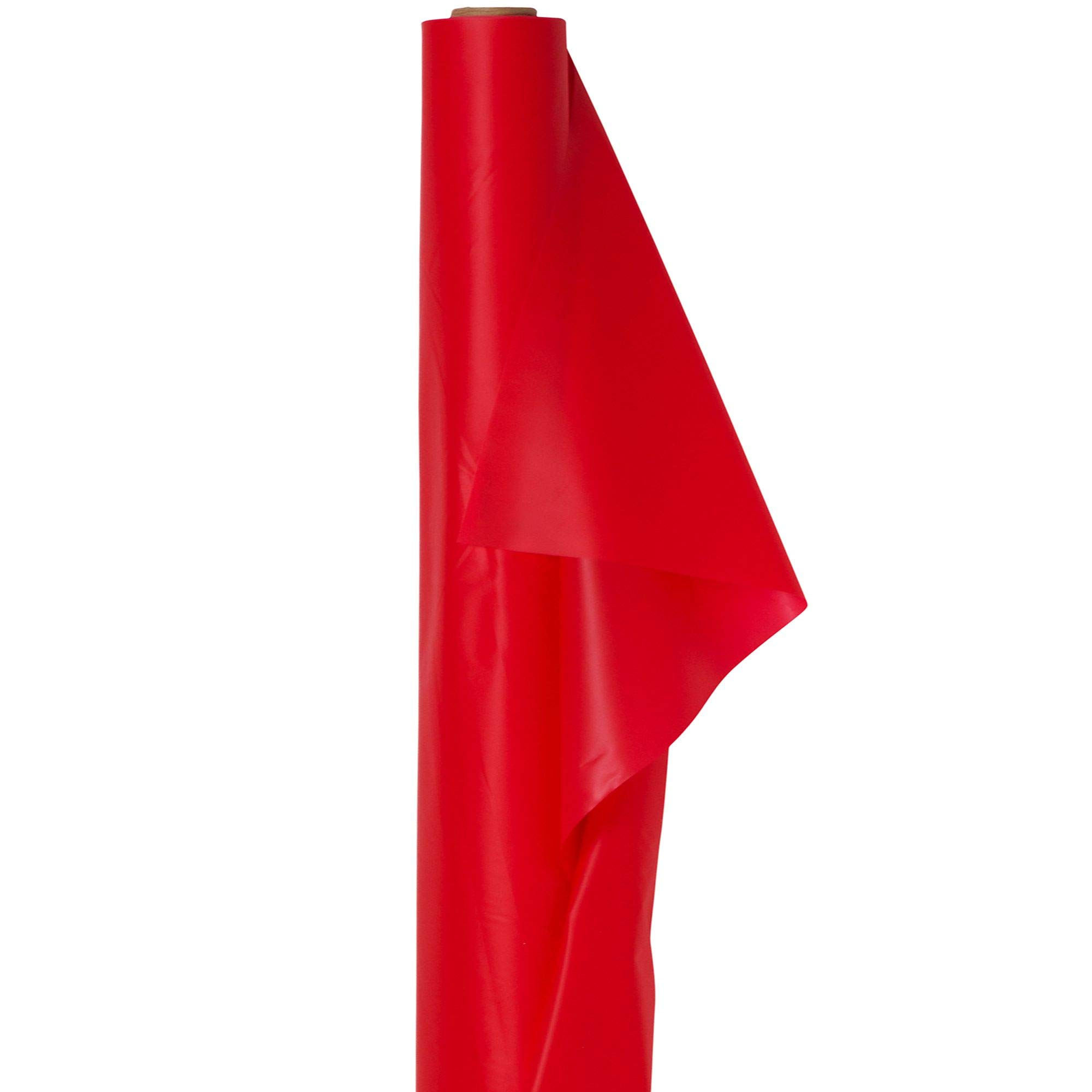 Amscam 77021.40 Jumbo Roll party-tablecovers, 40'' x 250', Red