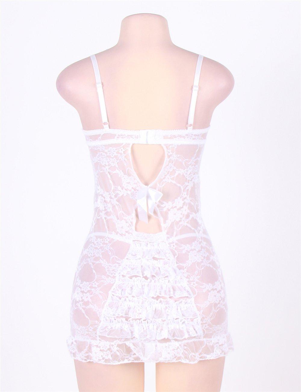Sling Pijamas Lencería Erótica Sexy Tentación Mujeres Transparente Tanga Seductora Correa Camisón Tanga Transparente Conjunto - Opciones de tamaño múltiple (Color : Red, Tamaño : 5XL) bcab2a