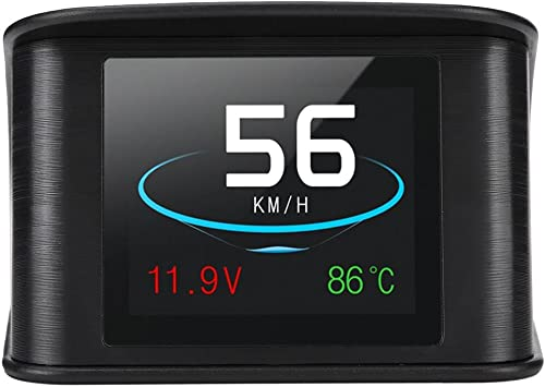 Acouto HUD Display P10 Universal Car HUD Head Up Display OBD2 Speed Warning RPM Fuel Consumption Projector