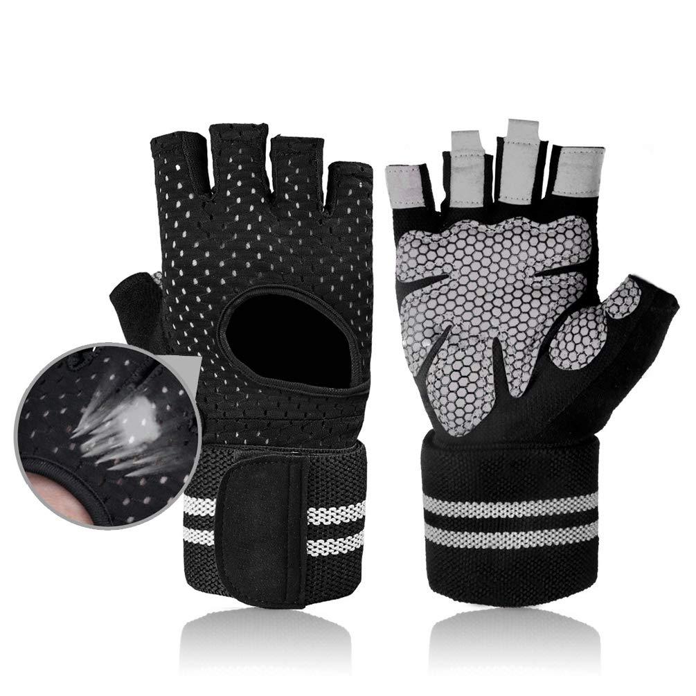 Guantes de levantamiento de pesas, guantes de medio dedo ...