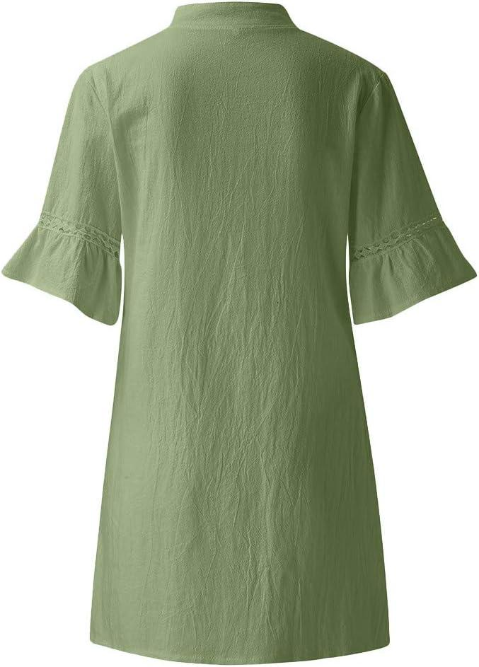 Vestidos de Verano Cortos SUNNSEAN Falda Mujer Vestido Casual de ...