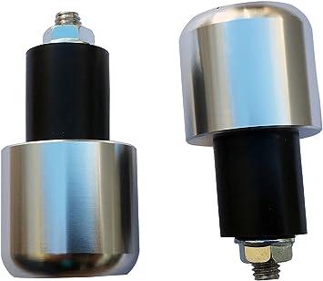 "7//8/"" Motorcycle Handlebar Grips Bar End 8mm Aluminum Plugs Cap Sliders Weights"