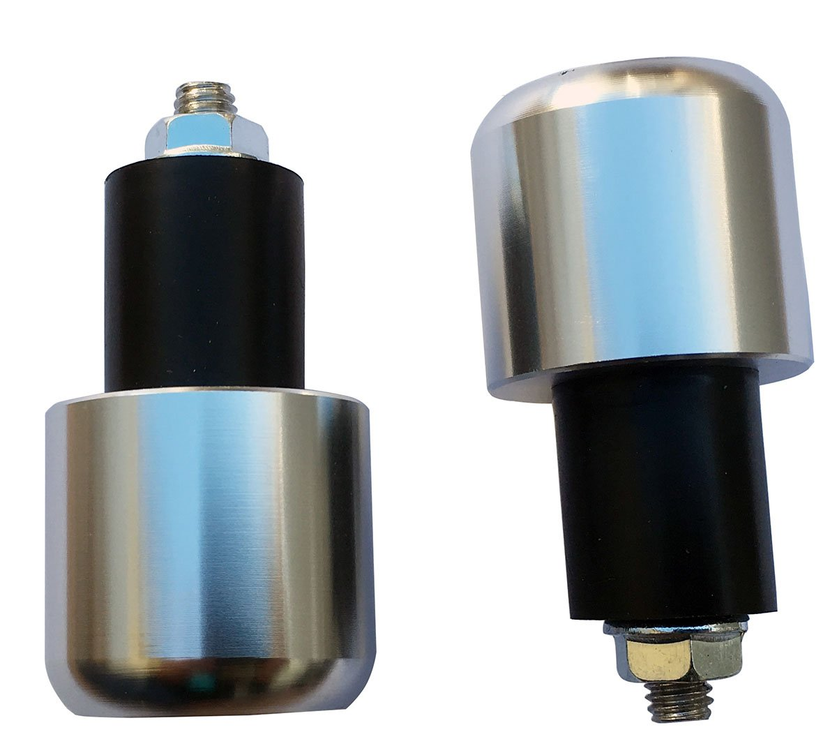 Silver 7//8 22mm Handle Bar End Weights Plugs Grips Cap Sliders for 2003 Suzuki Burgman 650