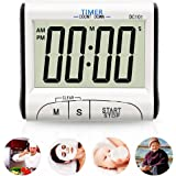 YIEPHIOT Kitchen Timer, Mini Digital Alarm Timer for Cooking Classroom Kids Count Down Clock with Loud Sound Big Digits Display Simply Portable