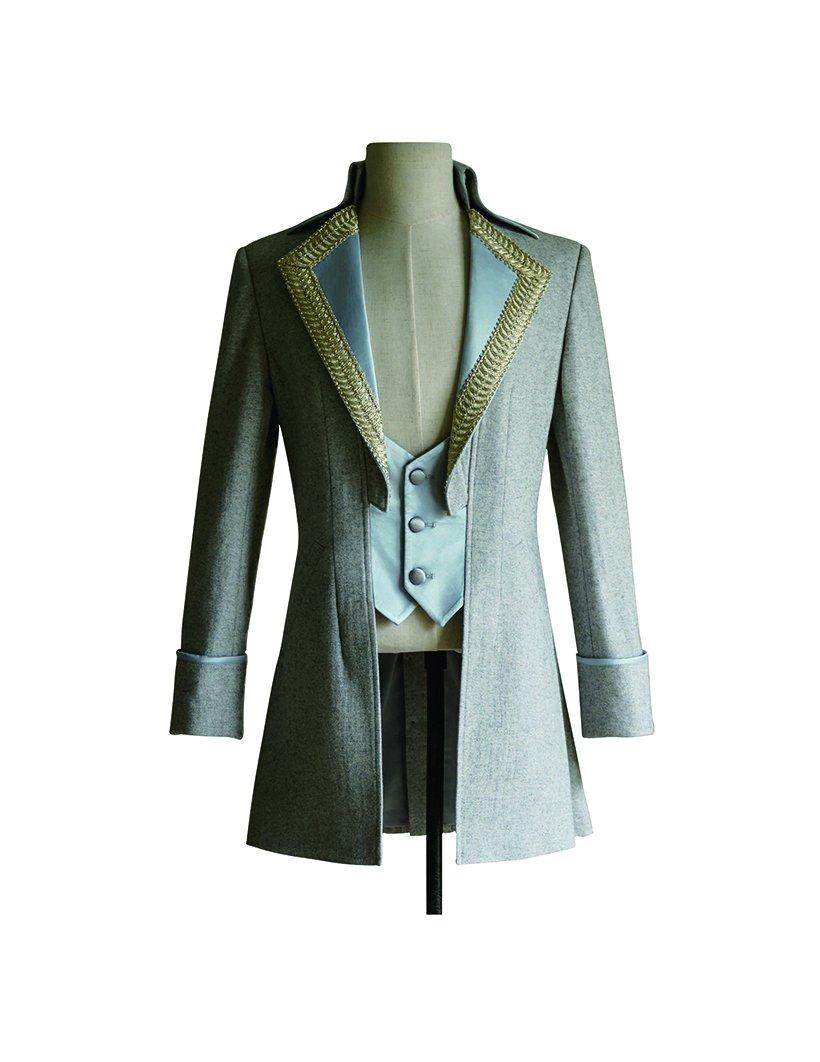 Steampunk Men Dress Coat Tuxedo Jacket Dandy Wedding Coat (Medium)