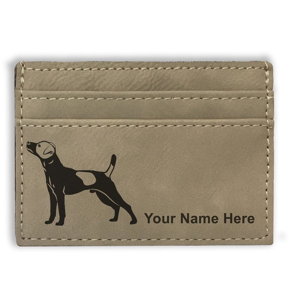 Personalized Engraving Included Jack Russell Terrier Dog Money Clip Wallet