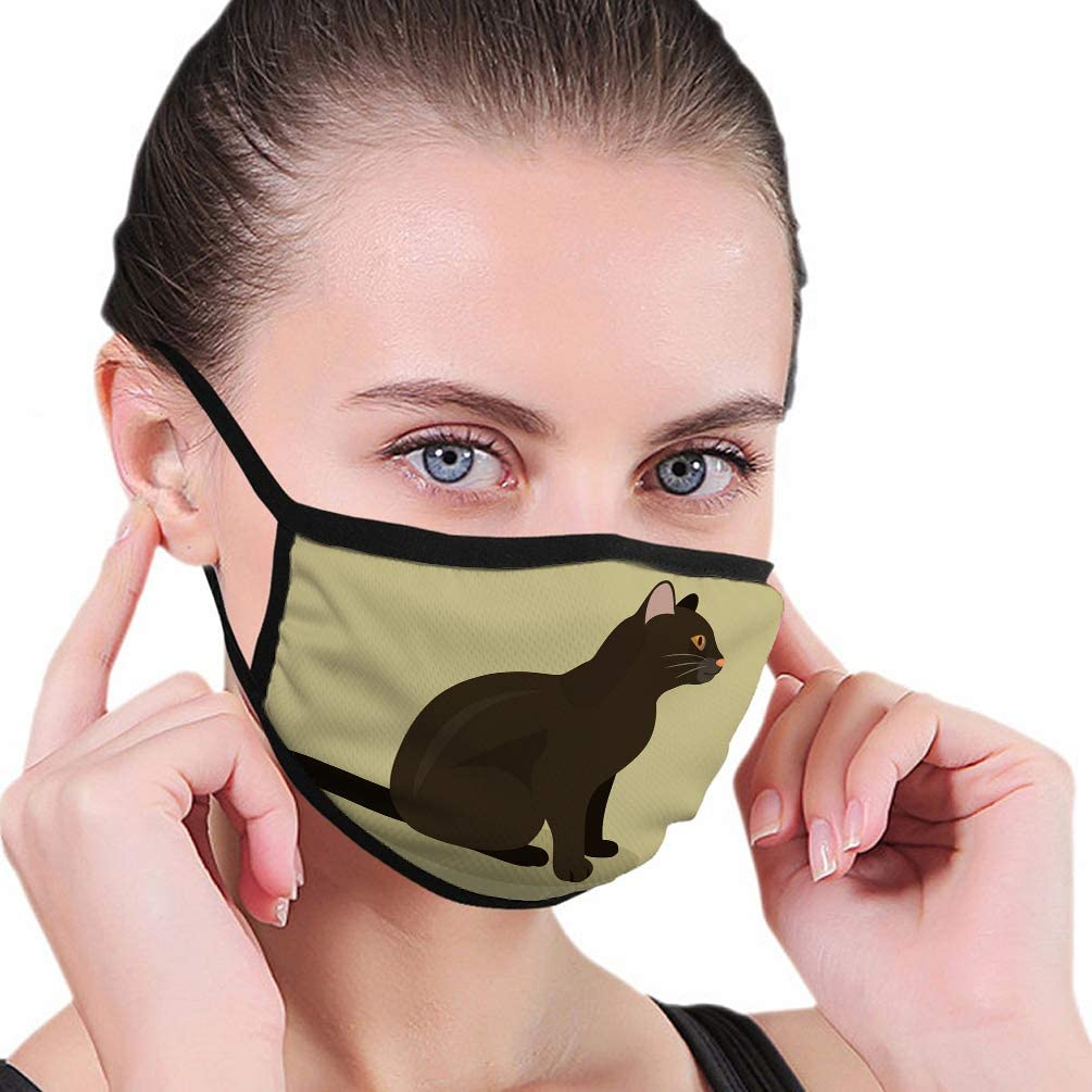 Amazon Com Qilifz Dust Face Anti Pollution Shield Black Cat Cute