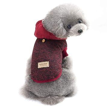 Ropa para Perros, Chaqueta de Punto Punto Costura Ropa para Mascotas Ropa de otoño e