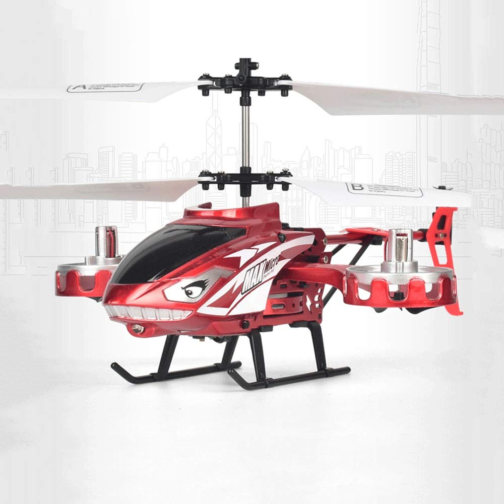 Zenghh Remote Control Helicopter Long-Distance Aircraft Shark Toy Alloy Rack Multiplayer Game Boy Child New Charging and LED Lights Outdoor Anti-Collision Rocker Model Preferred Gift ( Color : Red )
