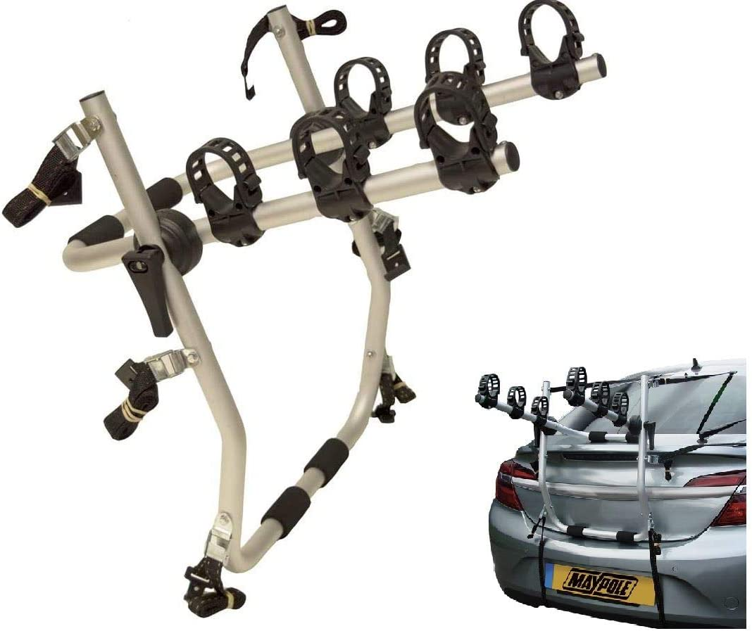 UKB4C Mokka 3 Cycle Carrier Rear Tailgate Boot Bike Rack Bicycle