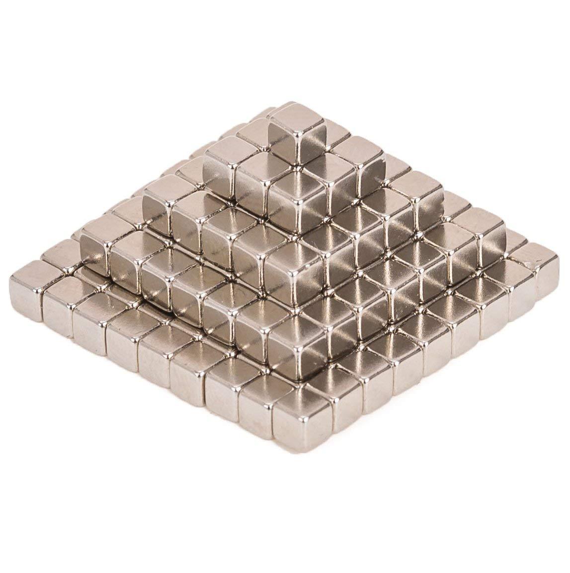 Mayli Magnet Balls 3mm//5mm Magnets Blocks Fidget Cube Magnet Cube Magnet Sculpture Cube Stress Relief Toys Puzzle Magic Educational Toys 3mm 216 Pcs Silver Square Shape