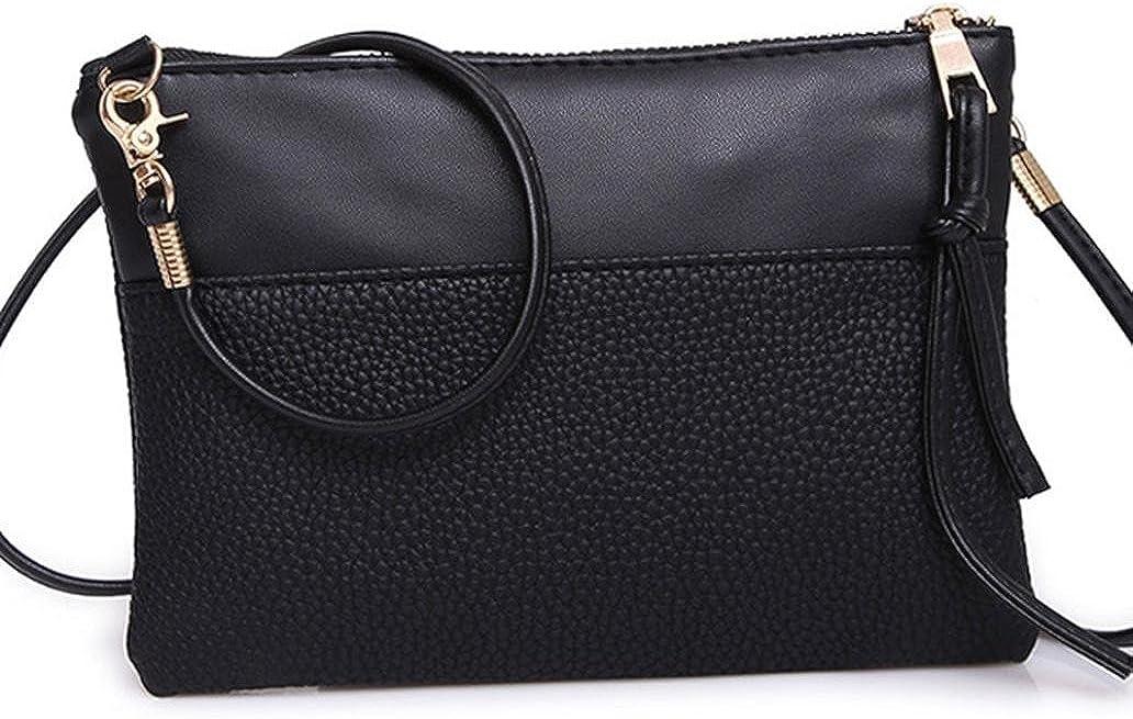 Vacally Women Fashion Handbag Zipper Shoulder Bag Large Tote Ladies Purse