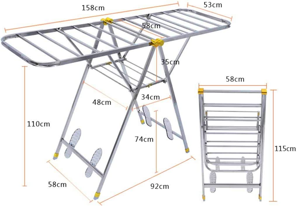 Tendedero Heavy Duty Plegable Ropa Airer Plegable Ropa de Secado ...