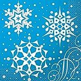 Silver Snowflake Christmas Party Napkins, 16ct