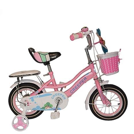 CARWORD Bicicleta Infantil de 12 Pulgadas para bebés, Rosa ...