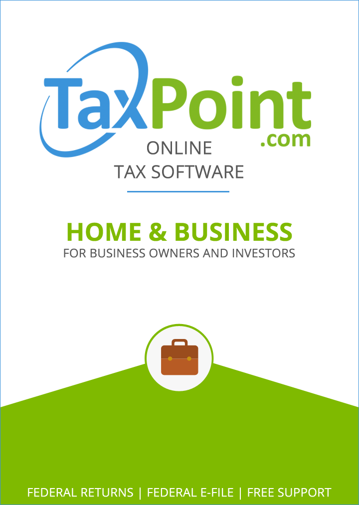 TaxPoint Home & Business 2015 Online Federal Tax Preparation Software [Online Code]