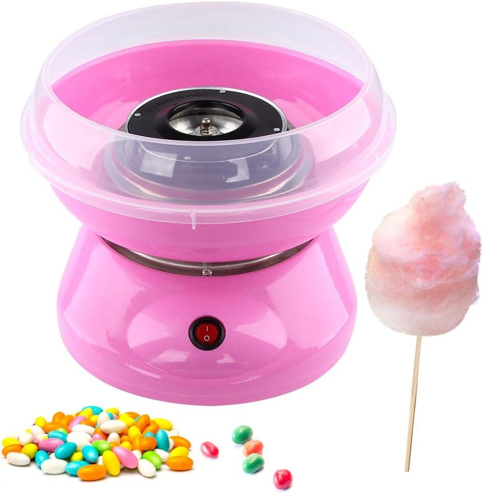 Máquina de algodón de azúcar, ruimin Candy Floss eléctrica hecho casa tuercas Cotton Candy Maker para la fiesta del Carnaval algodonera de azúcar para niños Rose: Amazon.es: Hogar