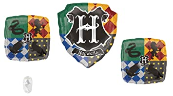 Harry Potter Hogwarts Balloon Bundle for Birthday and Party Decorations (Two 18 Inch Square One 27...