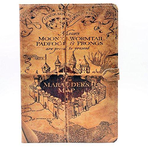 YHB iPad Air Case, Hogwarts Marauder's Map Vintage Retro Pat