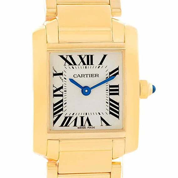 Cartier Tank Francaise Cuarzo Mujer Reloj W50002 N2 (Certificado) de Segunda Mano
