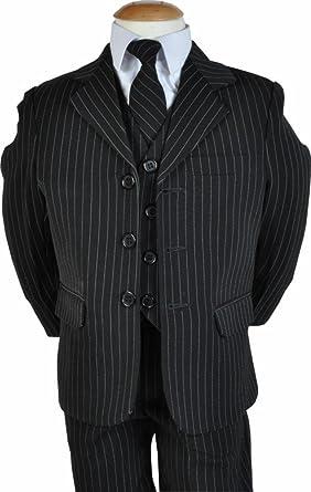 LG New Pinstripe para niños 5 piezas Chaqueta para hombre corbata ...