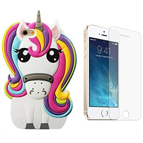 coque iphone 5 silicone licorne