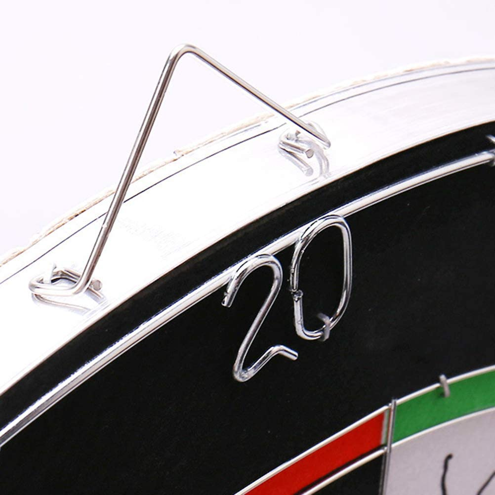 LIOOBO Tablero de Dardos Juego de Juego de Dardos Tablero de Dardos de Doble Cara con 6 Dardos de Bandera Americana para ni/ños Adultos de 18 Pulgadas