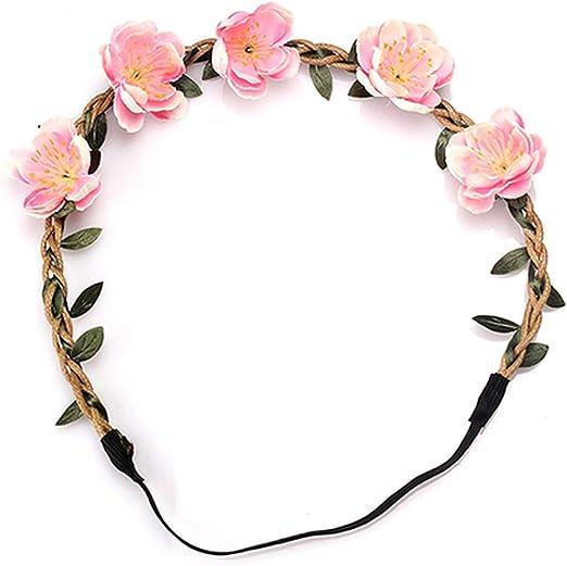 Bridal Bohemia Flower Hair Garland Floral Crown Headbands Wedding Wreath