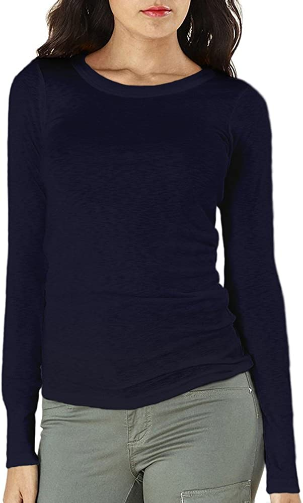 Michael Stars Long Sleeve Slub Band Crew Neck Tee