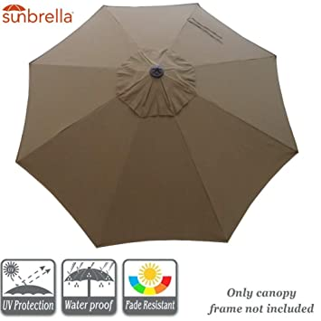 Miraculous 9 Ft 8 Rib Umbrella Canopy Replacement Sunbrella Canopy Replacement For 9 Feet Outdoor Patio Umbrella Sunbrella Canopy Only Cocoa Gmtry Best Dining Table And Chair Ideas Images Gmtryco