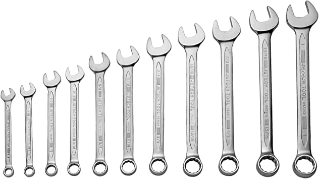 Jetech 11//16 Combination Wrench Durable SAE Inch Cr-V Steel High Strength Spanner in Sand Blasted Finish