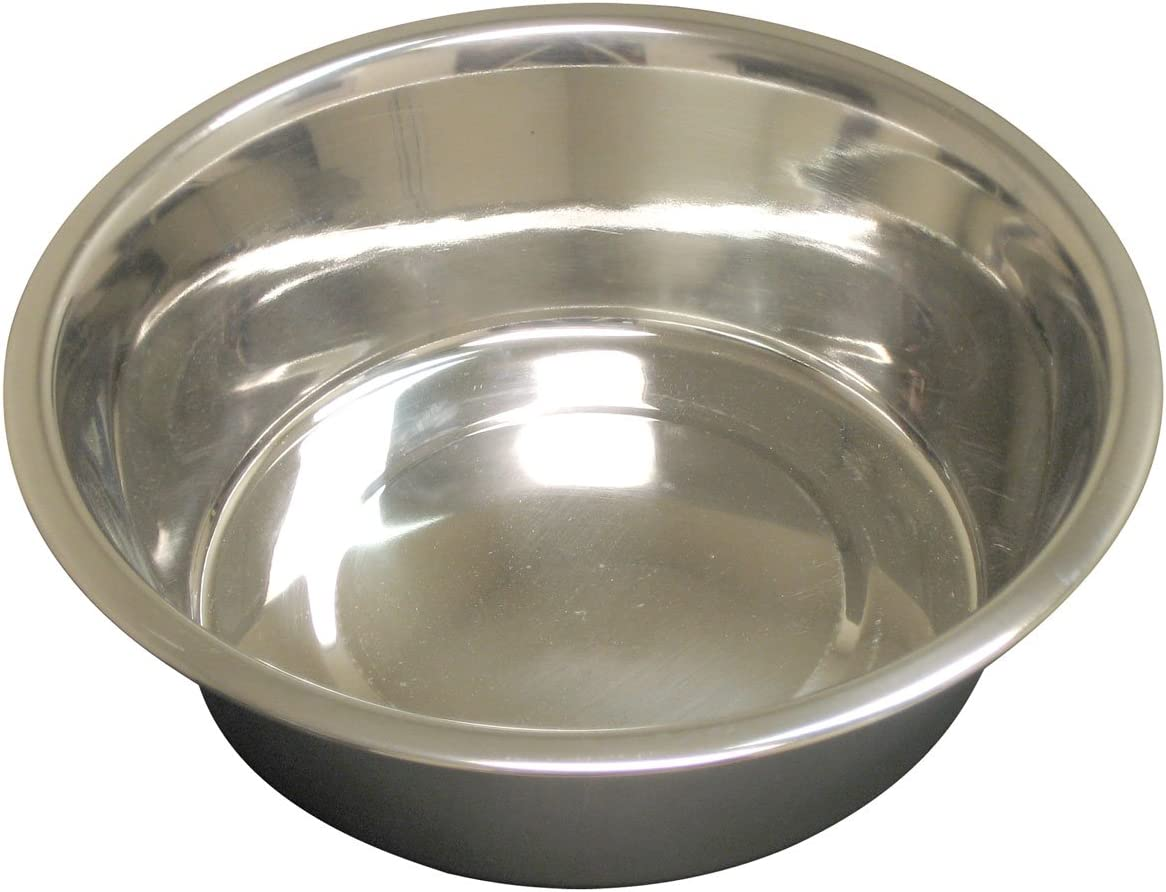 QT Dog Standard Stainless Steel Food Bowl, 1/2 Pint