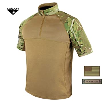 af7cf3d13d Active Duty Gear Condor Short Sleeve Combat Shirt (MultiCam) + Free U.S.  Flag &