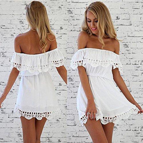 Sommerkleid, Kleid, weiß, Gr: 36/38 Spitze, Baumwolle/Polyester Kleid für den Sommer, Strand, Strandkleid Urlaub, Party, toll zu tragen