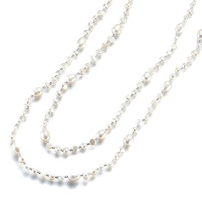 8fa62303aa359 Strength そろそろ本物志向 淡水パール ネックレス (120cm) 淡水 真珠 首飾り パール アクセサリー レディース