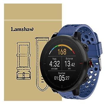 Ceston Respirable Deporte Silicona Clásico Correas para Smartwatch Polar Vantage M (Azul)