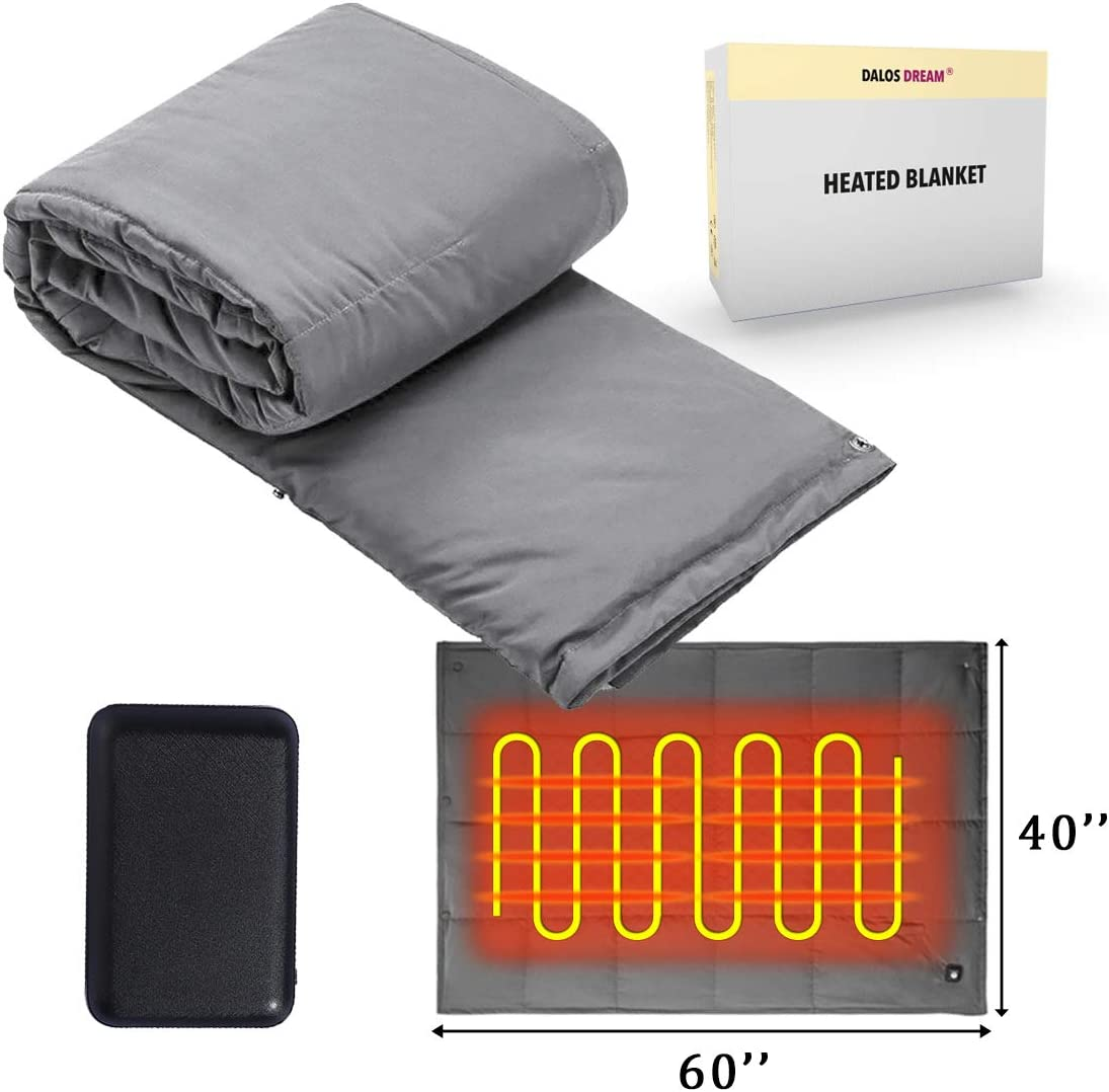 Amazon Com Battery Powered Heated Blanket Throw Super Fast
