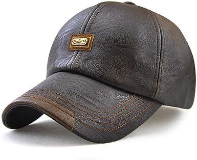 Gorra De Cuero De La Los PU De Hombres Fashion Sombrero De Otoño E ...