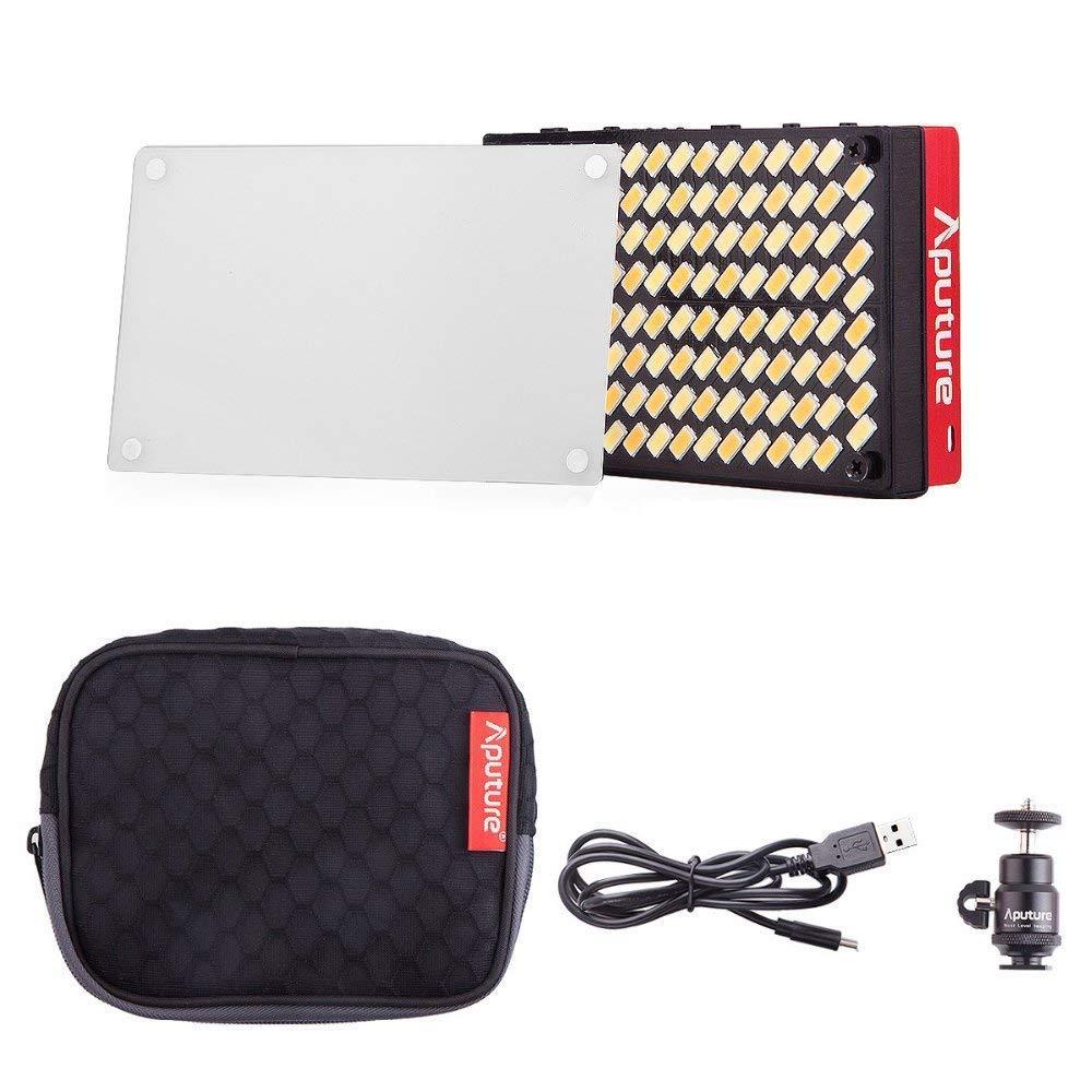 Aputure AL-MX LED Video Color Temperature 2800-6500k TLCI/CRI 95+ On Camera Fill Light Pocket Sized Tiny LED Lighting