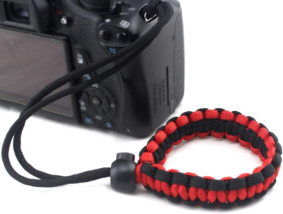 ROWEQPP Fashion Braided Digital Camera Strap Camera Wrist Strap Hand Grip Wristband Replacement for Nikon Compatible with Canon Compatible with Sony Black and White Camouflage