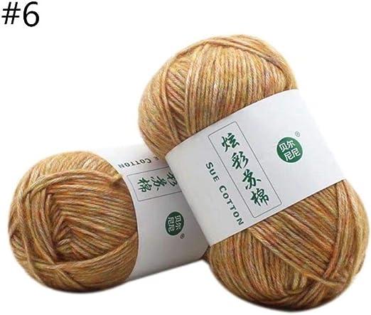 100G Algodón Hilo De Tejer Crochet Coser Tejido A Mano Gruesa ...