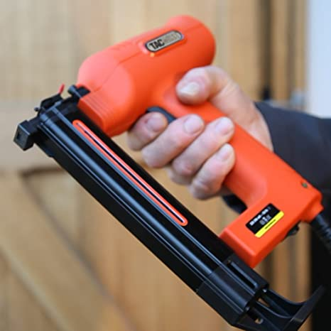 Tacwise Duo 35 Grapadora // Clavadora el/éctrica para grapas estrechas de 91 hasta 30mm y clavos de 180 hasta 35mm 18G