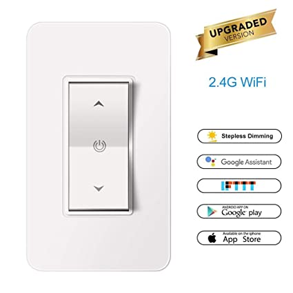 aozbz wifi smart dimmer switch, 1 gang 1100w in wall mobile phone